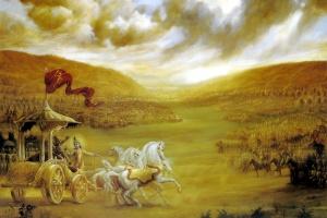 krishna and arjuna battlefield