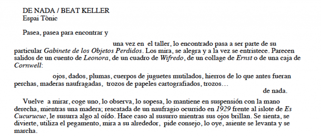 Beat Keller en la mira del autor surrealista Pierre D. La