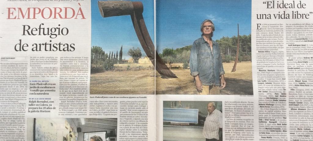 La Vanguardia: Empordà, refugi d'artistes