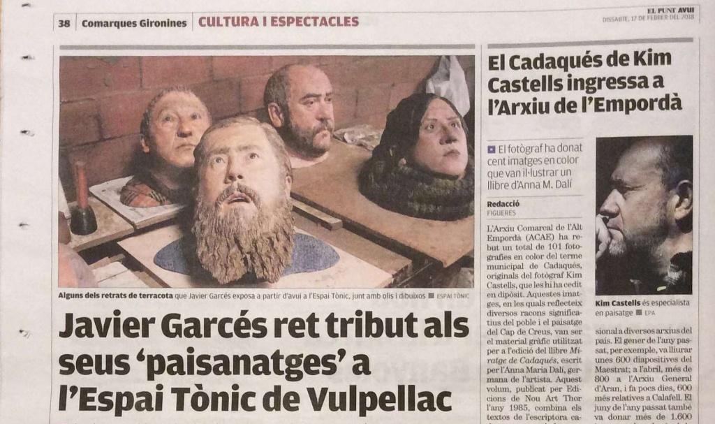 Javier Garcés a premsa