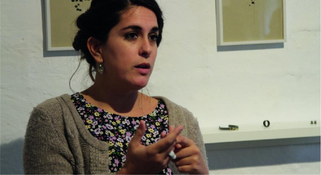 """Resum fotogràfic de la inauguració de """"LINEA"""" de Sana López"""