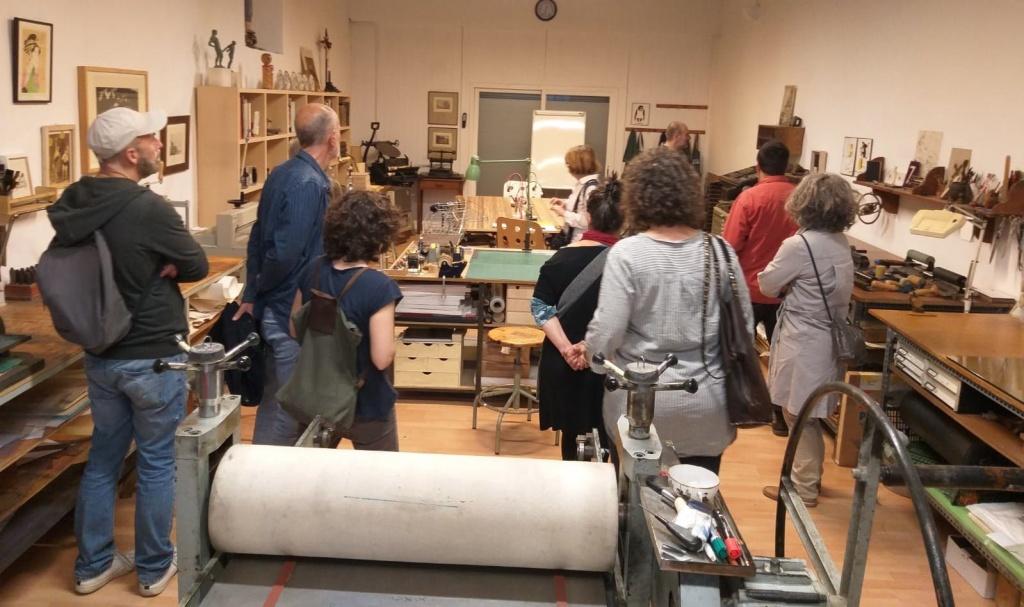 Recull fotogràfic de la visita al taller d'en Sebi Subirós